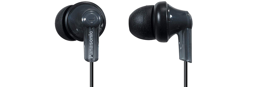 Panasonic RP-HJE120-K ErgoFit In-Ear Earbud Headphones