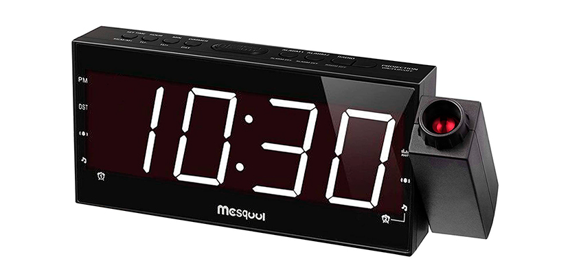 Mesqool Projection Alarm Clock for Bedroom