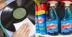 how to clean vinyl records with windex
