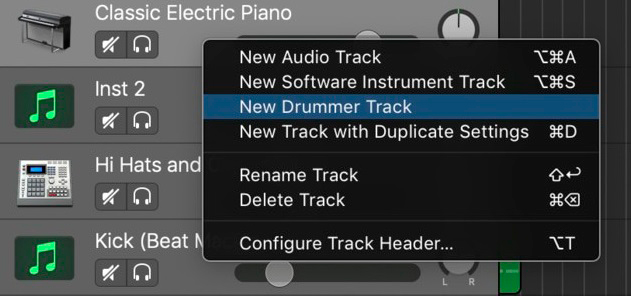 New Software Instrument Track