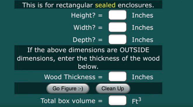 thickness of the wood